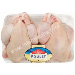 Poulet JAUNE, prêt à cuire
