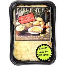 Parmentier de canard gratiné au Cantal