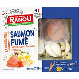 Salade La Gourmande saumon fumé pâtes œuf