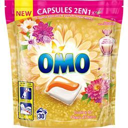 Omo Capsules de lessive Essence de Fleurs d'Orient le boite de 30 capsules - 723 g
