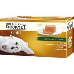 Gold - Les terrines lapin/agneau canard/poulet/saumo...