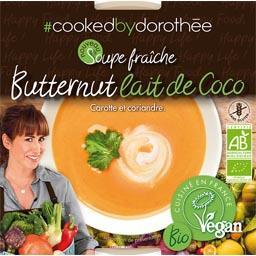 Cooked by Dorothée Soupe fraîche Butternut lait de coco BIO le pot de 300 g