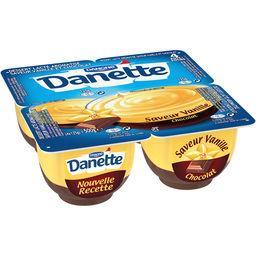 Danette - Crème dessert saveur vanille chocolat