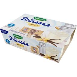 Les Brassés - Dessert lacté vanille, de 6 à 36 mois