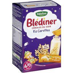 Blédîner - Céréales du soir riz carottes en dosettes...