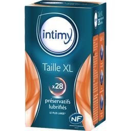 Intimy Préservatifs lubrifiés Taille XL la boite de 28