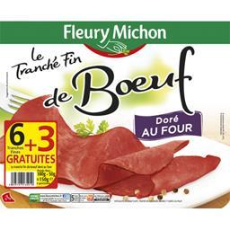 Fleury Michon Le Tranché Fin de bœuf doré au four 6 tranches fines - 150 g