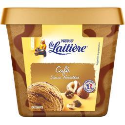 Crème glacé café sauce noisettes