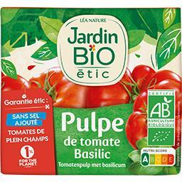 Pulpe de tomate basilic BIO