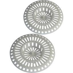 Novobain Grille de bonde évier blanche D80 (2 pièces) l'ensemble