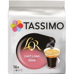 Capsules de café moulu Long, doux