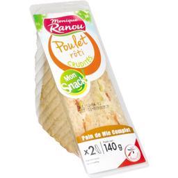 Mon Snack ! - Sandwich poulet rôti crudités