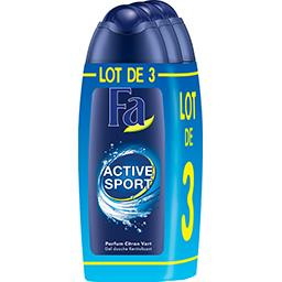 Fa Gel douche Active Sport Cap Tonique les 3 flacons de 250 ml