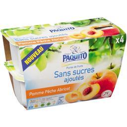 Purée de fruits pomme pêche abricot sans sucres ajou...