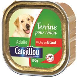 Canaillou Terrine bœuf pour chien adulte la barquette de 300 g