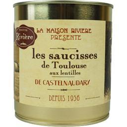 Les Saucisses de Toulouse aux Lentilles
