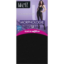 Collant 50 D Morphologie Regular +1m65, noir