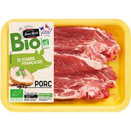 Côtes échine de porc bio