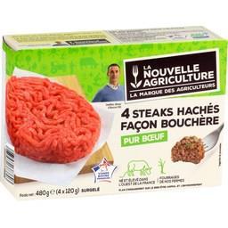 Steaks hachés façon bouchère, pur bœuf