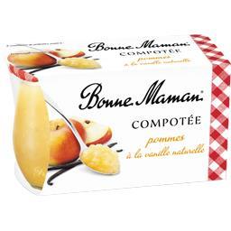 Compotée pommes à la vanille naturelle