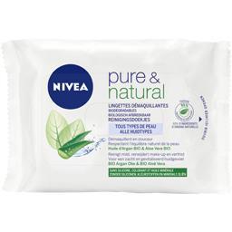 Lingettes demaquillantes biodegradables pure & natural