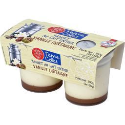 Yaourt au lait entier vanille châtaigne