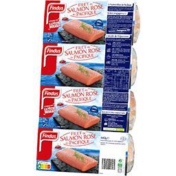 Filet saumon rose du Pacifique sauvage