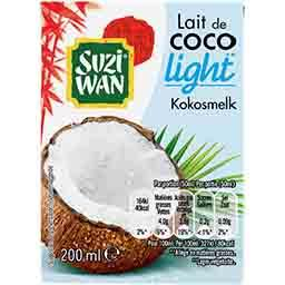 Suzi Wan Lait de coco light la brique de 200 ml