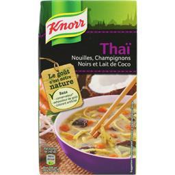 Soupe thaï nouilles champignons noirs et lait de coc...