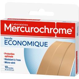 Mercurochrome Pansements bande économique 10 x 6 cm