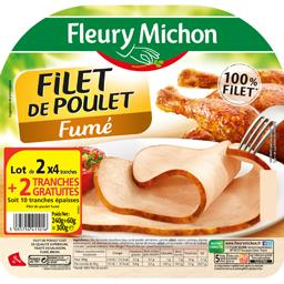 Fleury Michon Filet de poulet fumé le lot de 2 barquettes de 4 tranches s - 300 g