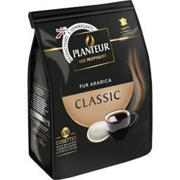Classic, café torréfié moulu en dosettes
