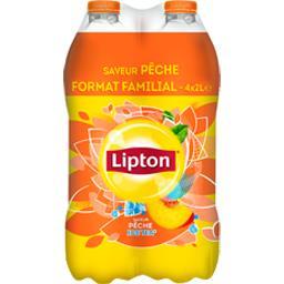 Lipton Ice Tea - Boisson saveur pêche le pack de 4x2l -
