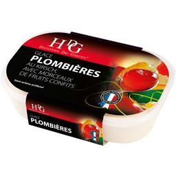 Histoires de glaces Glace Plombières au kirsch, morceaux fruits confits le bac de 485 g