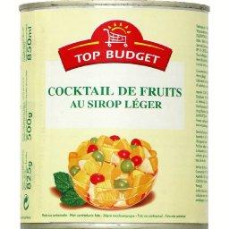 Cocktail de fruits au sirop léger