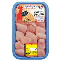 Cubes de filet de poulet blanc