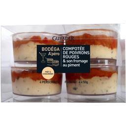 Bodega A'péro compotée poivrons rouges & fromage au ...