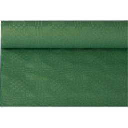 Nappe damassée 8x1,20 m vert foncé
