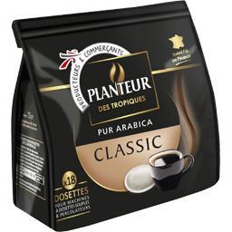 Dégustation, dosettes de café moulu pour Arabica