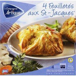 Feuilletés aux St-Jacques x4