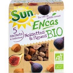 Sun Fruits Secs Encas BIO - Mélange noisettes & figues BIO les 5 sachets de 30 g