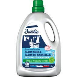 Briochin Lessive savon noir & savon de Marseille efficacité &... le bidon de 3 l