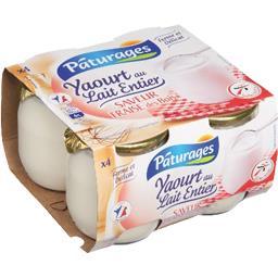 Yaourt au lait entier saveur fraise des bois