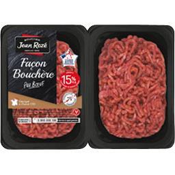 Steaks hachés façon bouchère pur bœuf 15% MG
