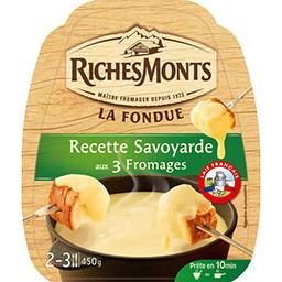 La Fondue recette savoyarde aux 3 fromages