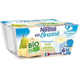 P'tit Brassé - Dessert poire banane BIO, dès 6 mois