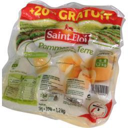 Saint Eloi Pommes de terre entières la barquette de 1 kg
