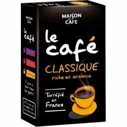 Le Café classique riche en arabica