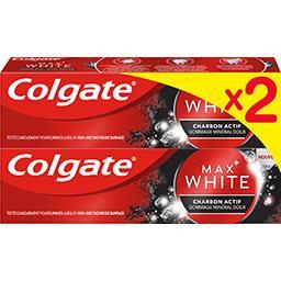 Colgate Max White - Dentifrice au charbon actif le lot de 2 tubes de 75 ml