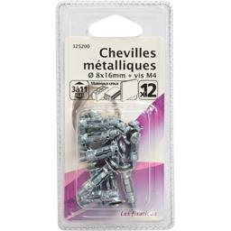 Chevilles métalliques 8x16mm + vis M4
